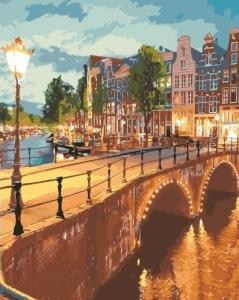 Картины по номерам Вечерний город