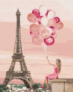 Картины по номерам Лиловые краски Парижа