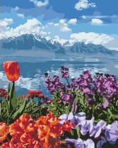 Картины по номерам Цветочный рай