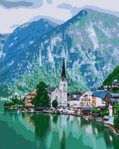 Картины по номерам Уютный городок