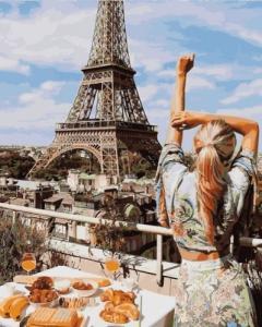 Картины по номерам Завтрак в Париже