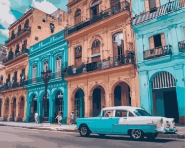 Картины по номерам Яркая Куба