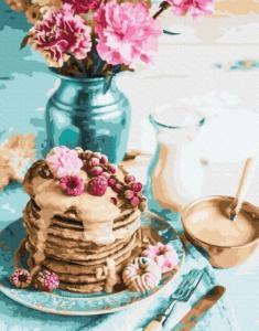 Картины по номерам Панкейки на завтрак