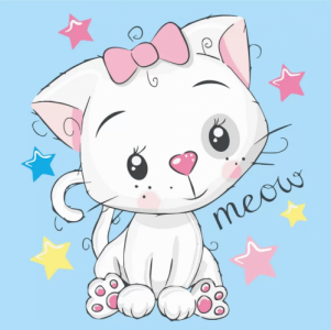Картины по номерам Белая кошка