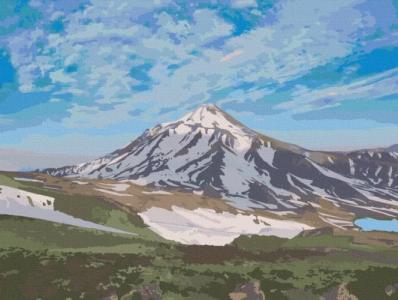 Картины по номерам Вулкан Линканкабур. Чили