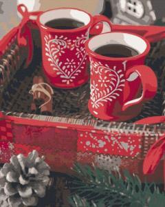 Картины по номерам Рождественский кофе
