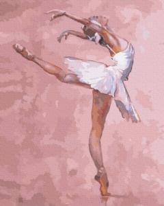 Картины по номерам Балерина в розовом цвете