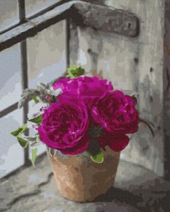 Картины по номерам Пышные розы