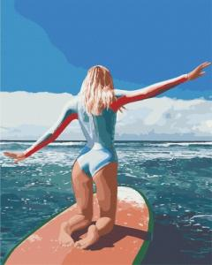 Картины по номерам Серфинг на Бали