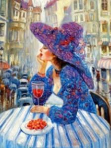 Картины по номерам Дама с вином