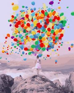 Картины по номерам Буйство шаров