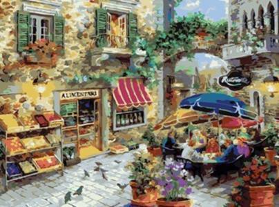 Картины по номерам Кафешка
