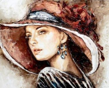 Картины по номерам Дама в шляпе