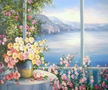 Картины по номерам Вид на море