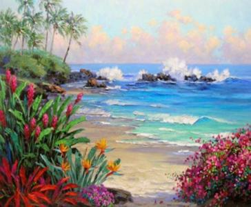Картины по номерам Берег океана