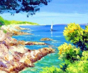 Картины по номерам Берег моря