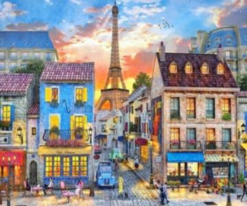 Картины по номерам Старинный Париж