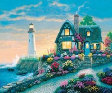 Картины по номерам Домик у моря