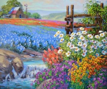 Картины по номерам Цветочные поля