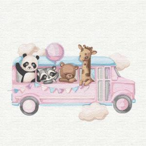 Картины по номерам Веселый автобус