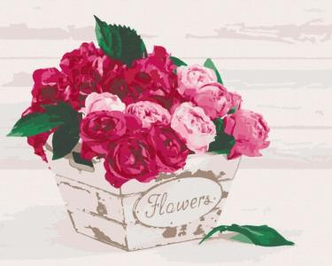 Картины по номерам Flower's box