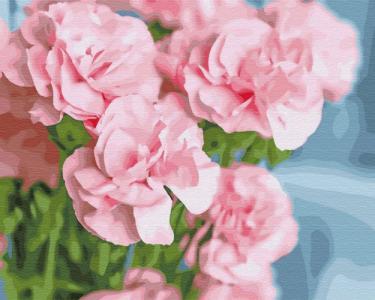 Картины по номерам Розовая камелия