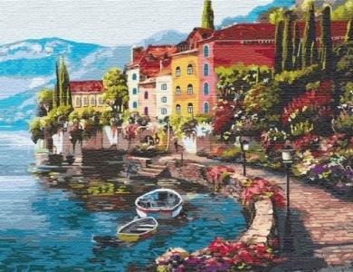 Картины по номерам Утро на берегу озера 2 (big)