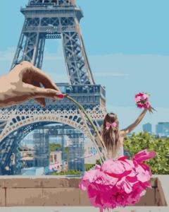 Картины по номерам Дівчинка у Парижі