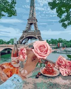Картины по номерам Романтика у Парижі