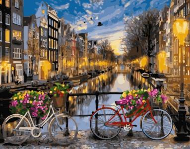 Картины по номерам Вечірній канал Амстердама
