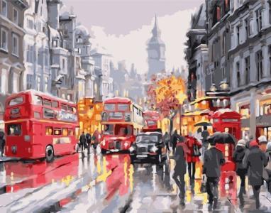 Картины по номерам Лондон з червоним акцентом