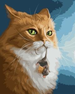 Картины по номерам Кіт та миша