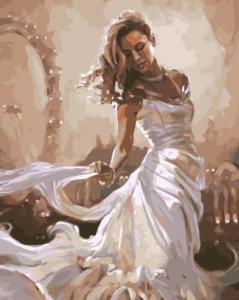 Картины по номерам Девушка в белом