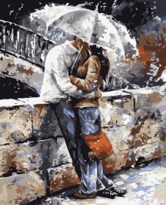 Картины по номерам Поцілунок під парасолею