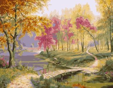 Картины по номерам Барвистий осінній пейзаж