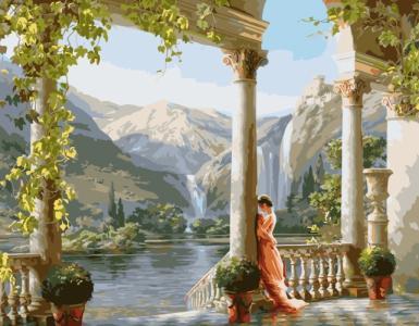 Картины по номерам Дівчина біля колони