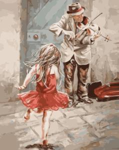 Картины по номерам Дівчинка та скрипаль