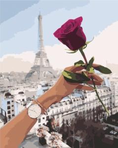 Картины по номерам Побачення в Парижі