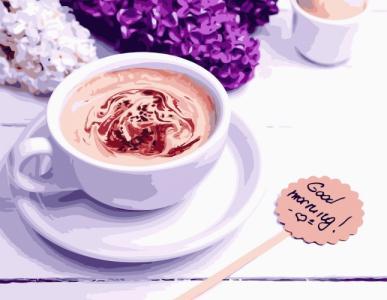 Картины по номерам Ароматное кофе