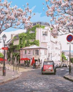 Картины по номерам Весняне місто