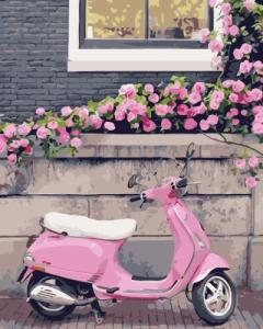 Картины по номерам Рожевий скутер