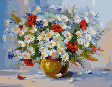 Картины по номерам Букет польових квітів