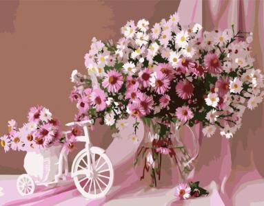 Картины по номерам Розовый букет