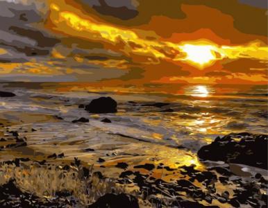 Захід сонця біля моря