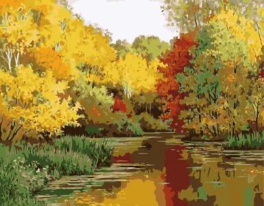 Картины по номерам Осінній ліс