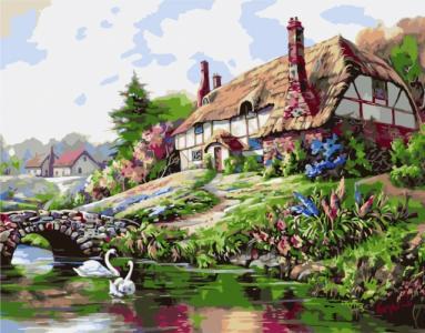 Картины по номерам Будинок біля озера
