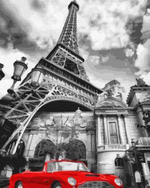 Картины по номерам Красный цвет Парижа
