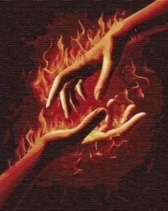 Картины по номерам Огонь между нами 1