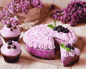 Картины по номерам Черничный пирог