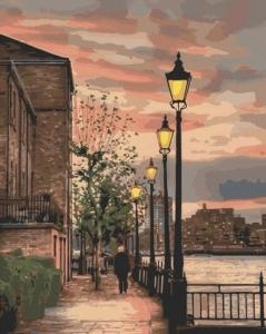 Картины по номерам Набережная Темзы. Англия